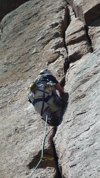 Rock Climbing Photo: Crack technique at Honky Jam Ass Crack, Turkey Per...