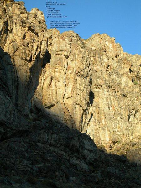 Rock Climbing Photo: Lichen It topo.