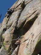 Rock Climbing Photo: Jake leading P2.
