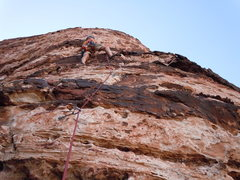 Rock Climbing Photo: Leading upper portion of route. Really enjoyed thi...