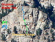 Rock Climbing Photo: This is an awful picture taken from the summit of ...