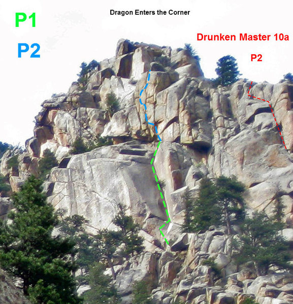 This shows P2 of Drunken Master as veiwed from down the hill from Skull Rock.