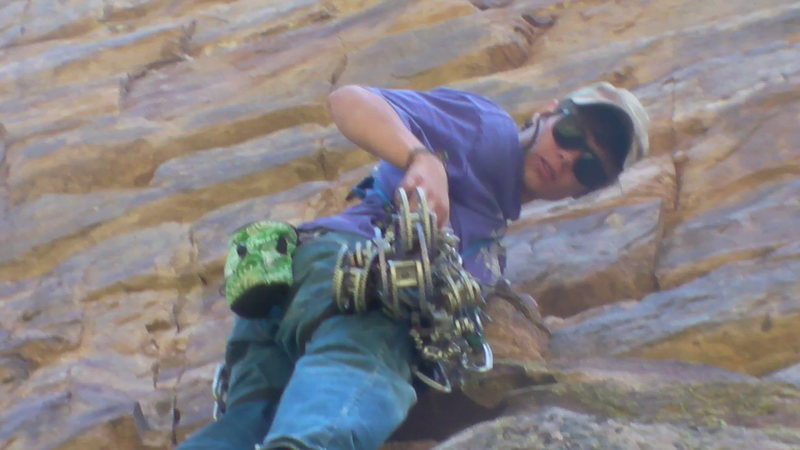 Rock Climbing Photo: Interesting gear.