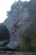 Rock Climbing Photo: Sam on The Shield.