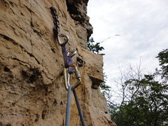Rock Climbing Photo: Up at the top you'll find this shiny, brand new an...