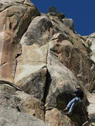 Rock Climbing Photo: The right-facing flake and corner system on the le...