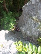 Rock Climbing Photo: Ben Botelho follows the right side of Pillar(5.7),...