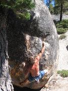 Rock Climbing Photo: eric makin the reach