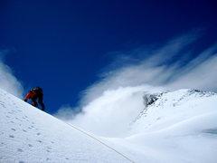 Rock Climbing Photo: High on The Ramp, Mt. Aspiring - NZ