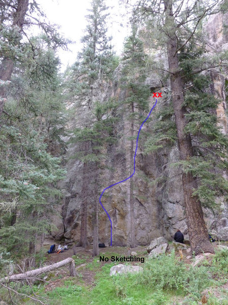 Rock Climbing Photo: Pic of No Sketching.