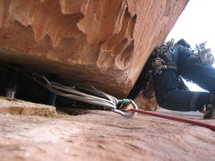 Rock Climbing Photo: This is a pic of Pat leading above the big bro anc...