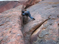Rock Climbing Photo: Another pic from the first ascent. Climbing past t...