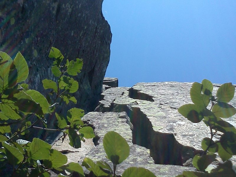 """Rock Climbing Photo: Horny corner going which leads up to the """"Pic..."""