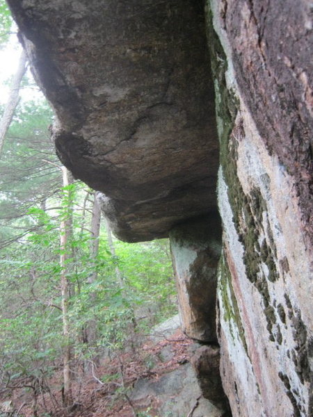 Rock Climbing Photo: far left side of main boulder.