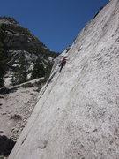 Rock Climbing Photo: Shelley leading Lizard King.