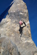 Rock Climbing Photo: Hanging from Hercules