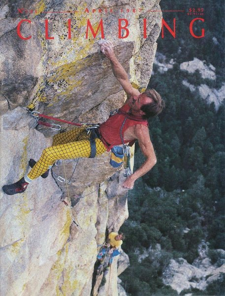 Jim Waugh on the 3rd pitch (5.11c) of Ma&#39;adim, Mt. Lemmon<br> <br> Photo by Peter Noebels