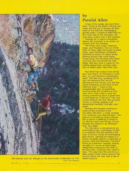 Rock Climbing Photo: Bill Hatcher and Jim Waugh on the 4th pitch (5.11b...