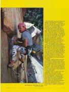 Rock Climbing Photo: Ray Ringle on Heat Wave (5.12a), Mt. Lemmon. Photo...