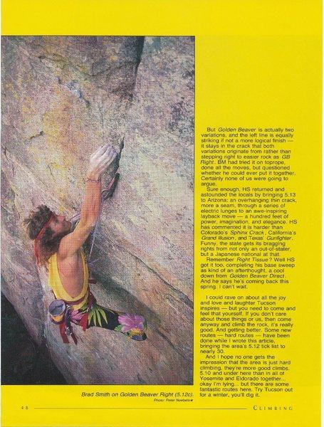 Rock Climbing Photo: Brad Smith on Golden Beaver Right (5.12c), Mt. Lem...