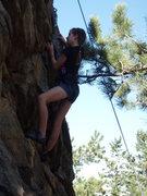 Rock Climbing Photo: Rachel dancing upward.