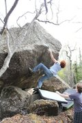 Rock Climbing Photo: Drew Crowther midway on Point Hope