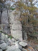 Rock Climbing Photo: Send the face moving left to the crack for the sec...