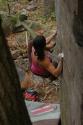 Rock Climbing Photo: Katie at the start.