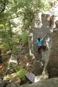 Rock Climbing Photo: Katie on Big Easy.