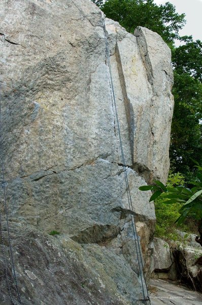 Rock Climbing Photo: Pretty obvious line to see.  Harder to do.