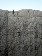 Rock Climbing Photo: Rappeling down the Sylvan Lake side of the Outer O...
