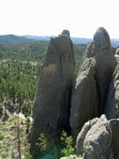 Rock Climbing Photo: Belaying from the top of Someone Else's Peg -- a c...
