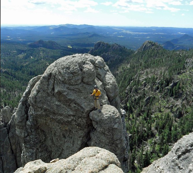 Jeff J. conquers the Balcony Point crux