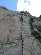 Rock Climbing Photo: Lin cruising.