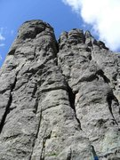 Rock Climbing Photo: A full view of the East Chimney from the base of S...