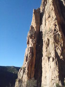 Rock Climbing Photo: The sunniest arete at the top of the Pleasure Pill...