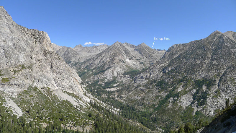 approach/descent down into LeConte Canyon