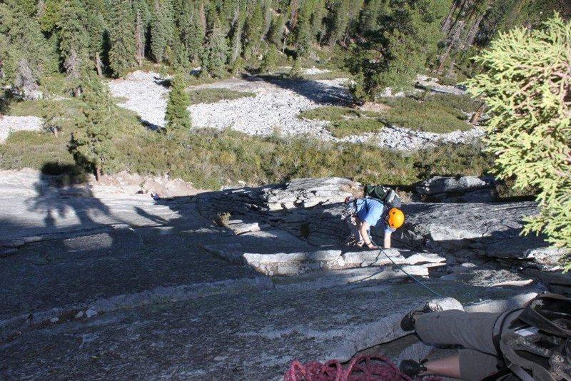 Rock Climbing Photo: Jen McAllister - 1st multipitch-  approaching 1st ...