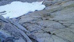 Rock Climbing Photo: looking down P1-3