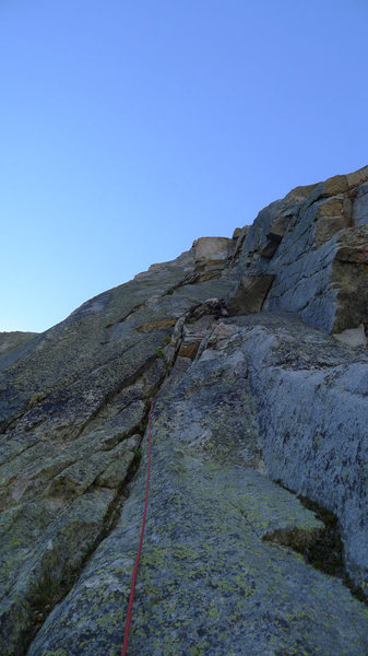 "Mike leading the ""10a"" crack on P4"