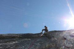 Rock Climbing Photo: Kaari Volway heading up the 3rd pitch