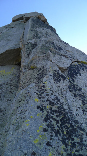Rock Climbing Photo: P10, from the large sloping belay ledge step down ...