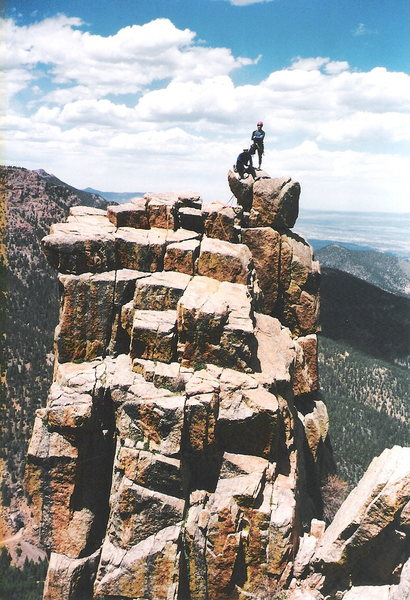 Rock Climbing Photo: Top of the Martyr in Colorado Springs