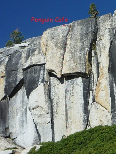Rock Climbing Photo: Penguin Cafe on left side and tallest part of the ...