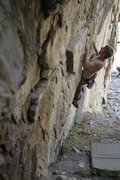 Rock Climbing Photo: Martin working on his Crimper route on the Upper t...