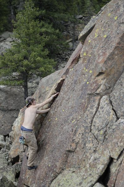Rock Climbing Photo: Crack Attack is a fun hand crack.