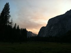 Rock Climbing Photo: Sunset in the Valley
