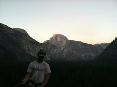 Rock Climbing Photo: View of Half Dome from the top of P3.