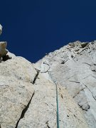 Rock Climbing Photo: Looking up the start of p1