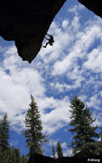 Rock Climbing Photo: Alex installs bolts on the  AIRY upper wall of Ske...